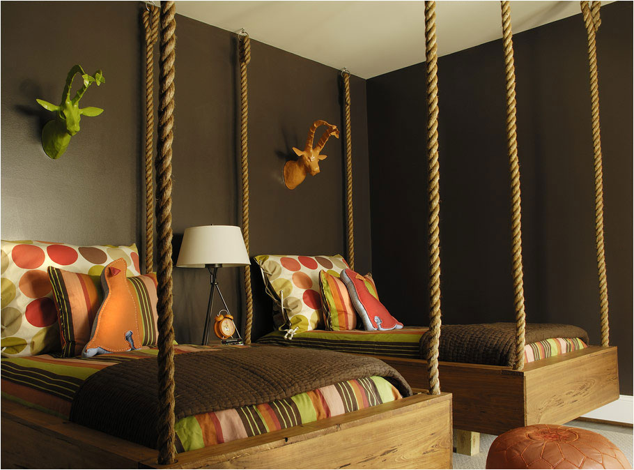 7 amazing swing beds or bed swings diy ideas pictures 4 looks can be deceiving solutioingenieria Images